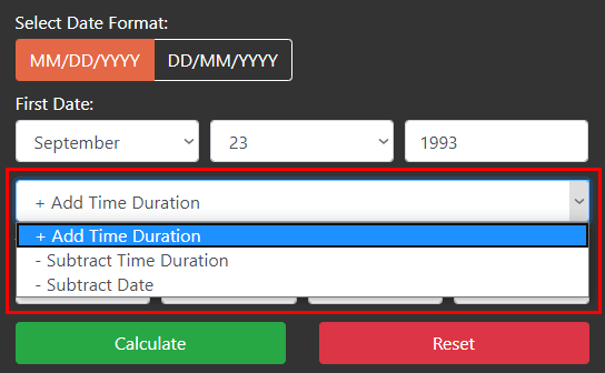 Add, Subtract, Time, Date Calculator